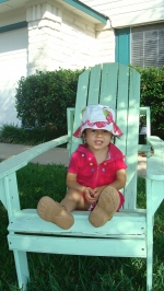 Amelie Getting Ready to Go Swimming
