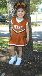 Amelie in Longhorn Cheerleader Outfit